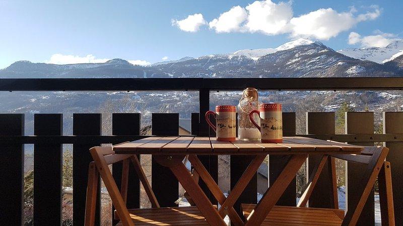 Vue magnifique ! Vallouise,Parc des Ecrins,Puy st Vincent,Pelvoux Hautes Alpes, location de vacances à Vallouise-Pelvoux
