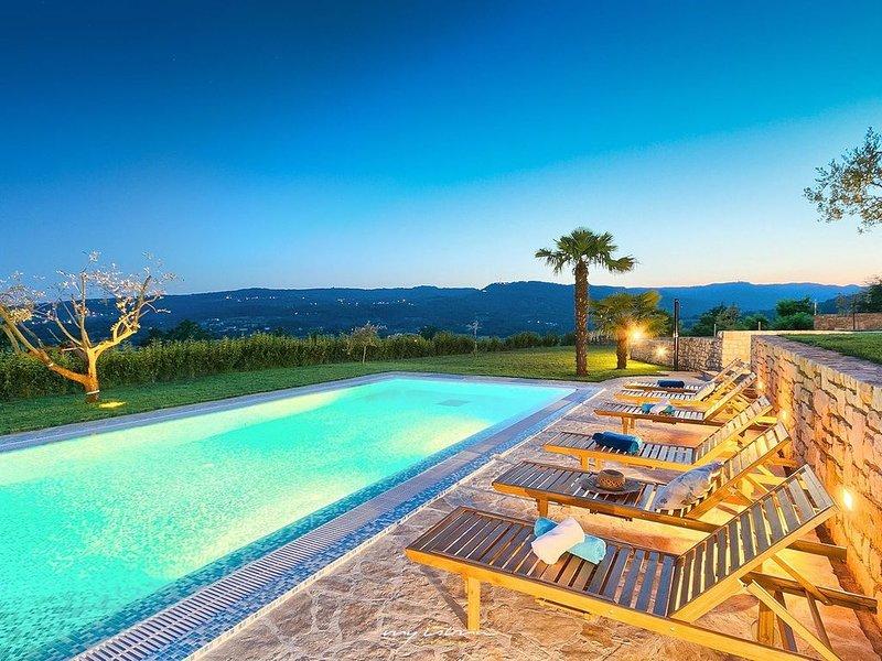 Impressive country villa amidst the Istrian hills, location de vacances à Krbune