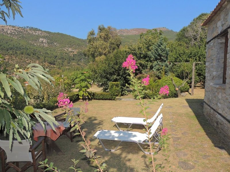 Private Bungalow in the Kazaviti Estate - Ideal for Relaxing Holidays for Two!, holiday rental in Skala Sotiros