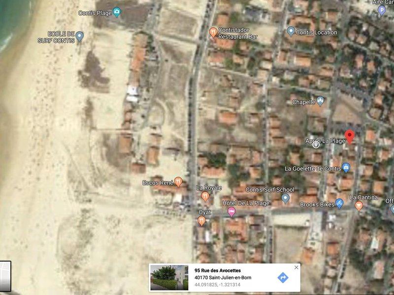 Au coeur de Contis, à  200 m de la plage, appartement T3 avec terrasse, holiday rental in Saint-Julien-en-Born
