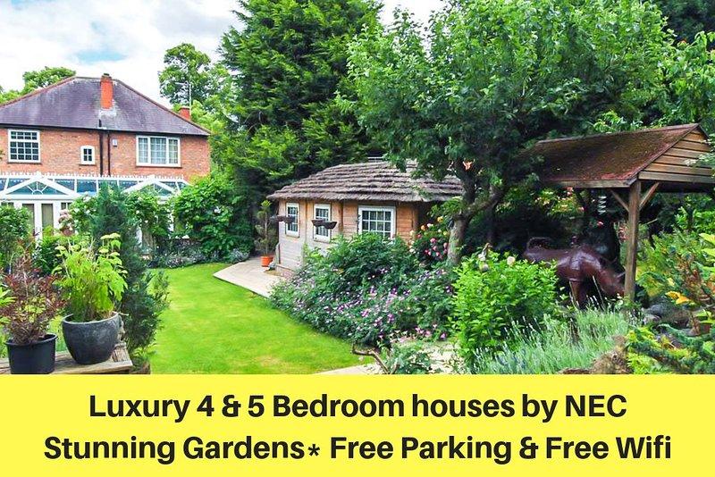The Yardleys - maisons spacieuses avec 4 et 6 chambres et jardin à 15 min de NEC & Bham City