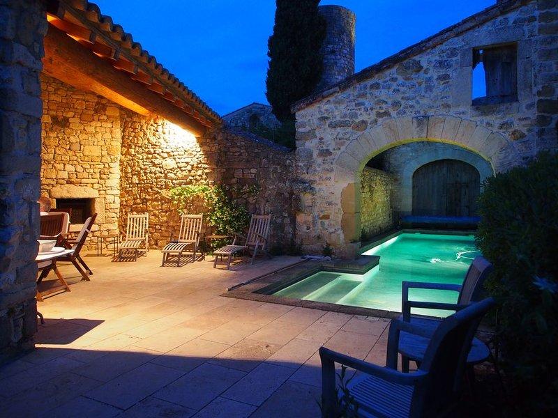 Mas de la Chapelle ~ Beautiful Stone Maison de Maitre with Heated Pool., holiday rental in Sainte-Anastasie