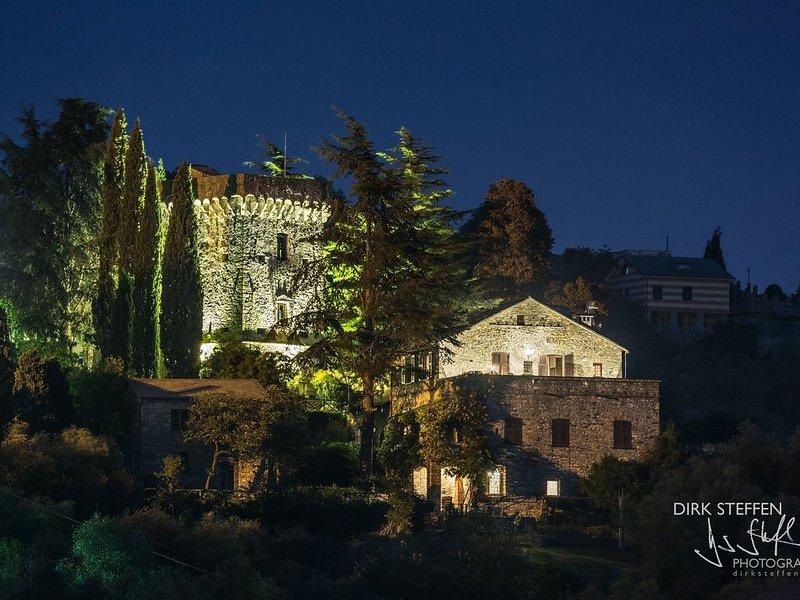 Castello del 1400, tra Portofino e Cinque Terre , vista mare fra gli ulivi, vakantiewoning in Mezzanego