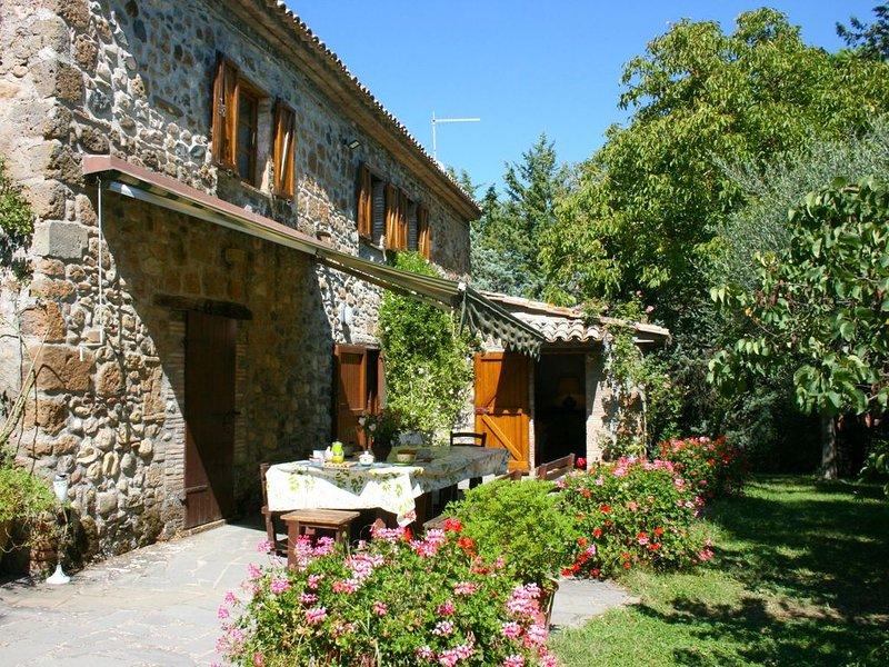 Posta tra vigneti e oliveti sulle colline di Orvieto, che dista soli 5 km, Casab, holiday rental in Sala
