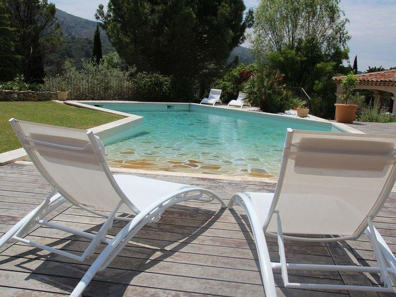 Maison en  campagne Aixoise avec jardin paysagé et piscine .Sud de la France, holiday rental in Saint Antonin sur Bayon