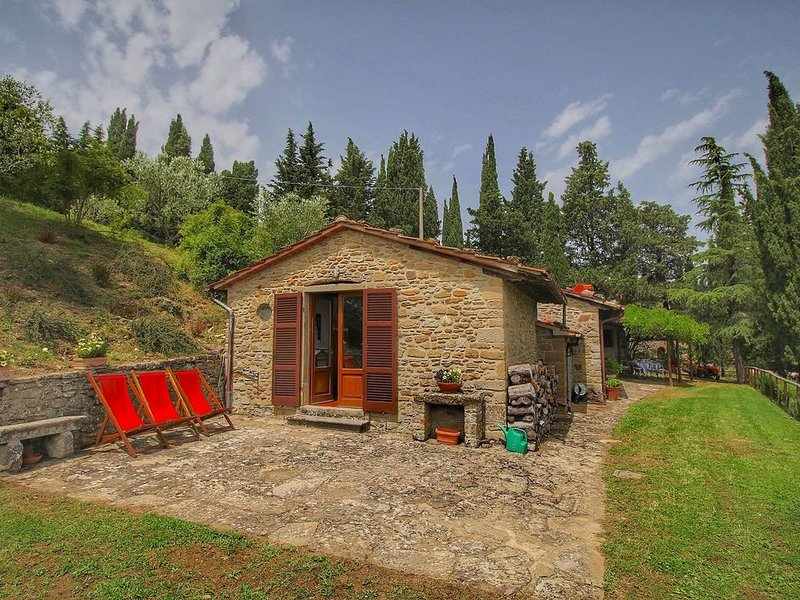 Small medieval hamlet of Italian marquis, pool, nice view, holiday rental in Anghiari
