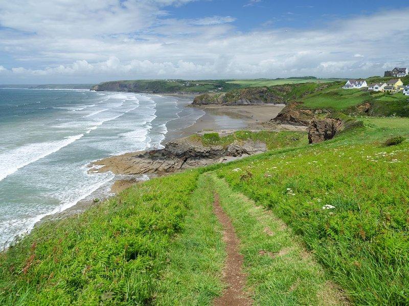 on the stunning coast path