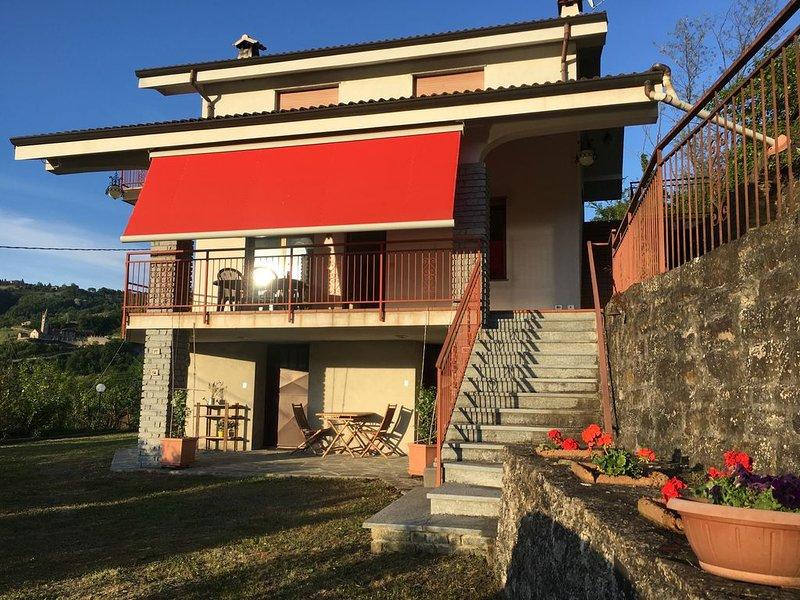 Villa indipendente sulle colline del Monferrato, casa vacanza a Bistagno