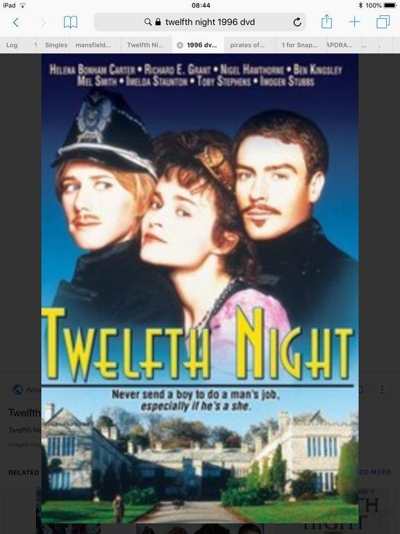 Twelfth Night was filmed at Lanhydrock.