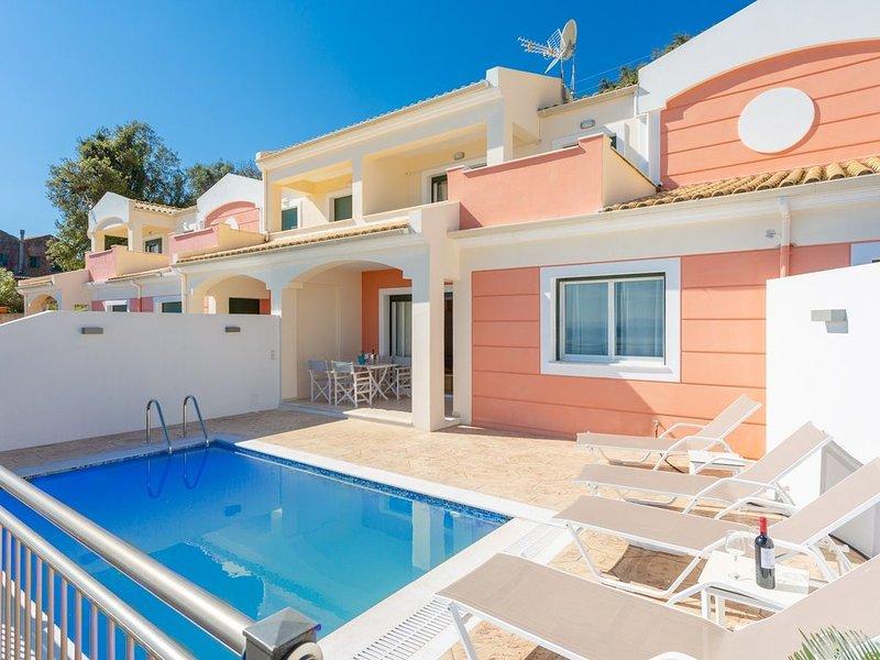 Akti Barbati Villa Thio: Private Pool, Walk to Beach, Sea Views, A/C, WiFi, Car, holiday rental in Barbati