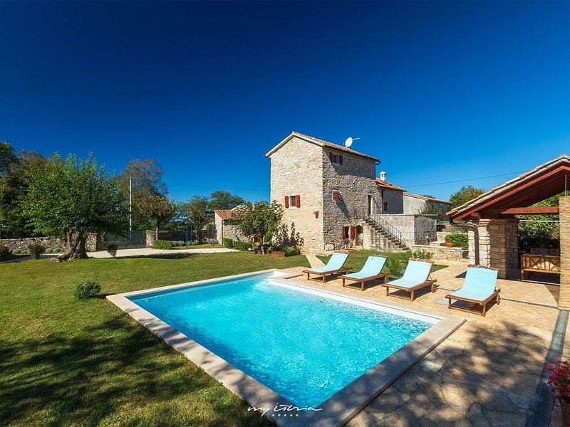 Beautiful old stone villa with private pool, holiday rental in Prkacini