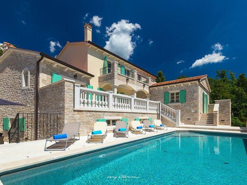 Beautiful villa with pool near Pazin, holiday rental in Beram