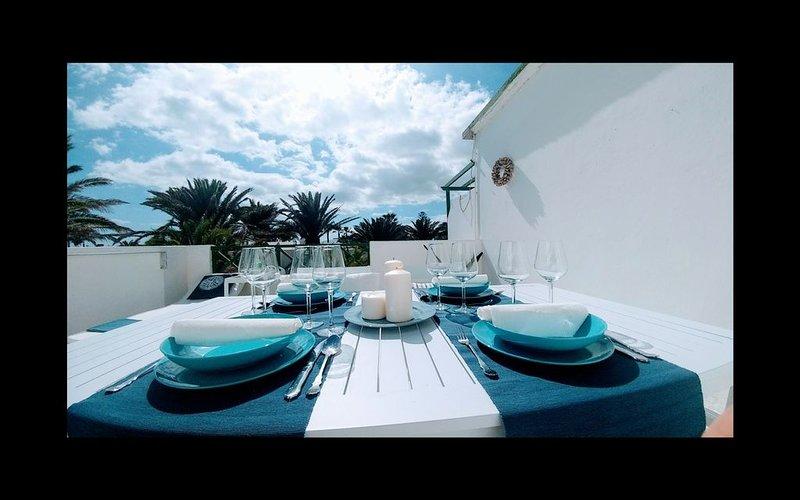 terrazza privata, vista mare, complesso curato e tranquillo, vacation rental in Tias