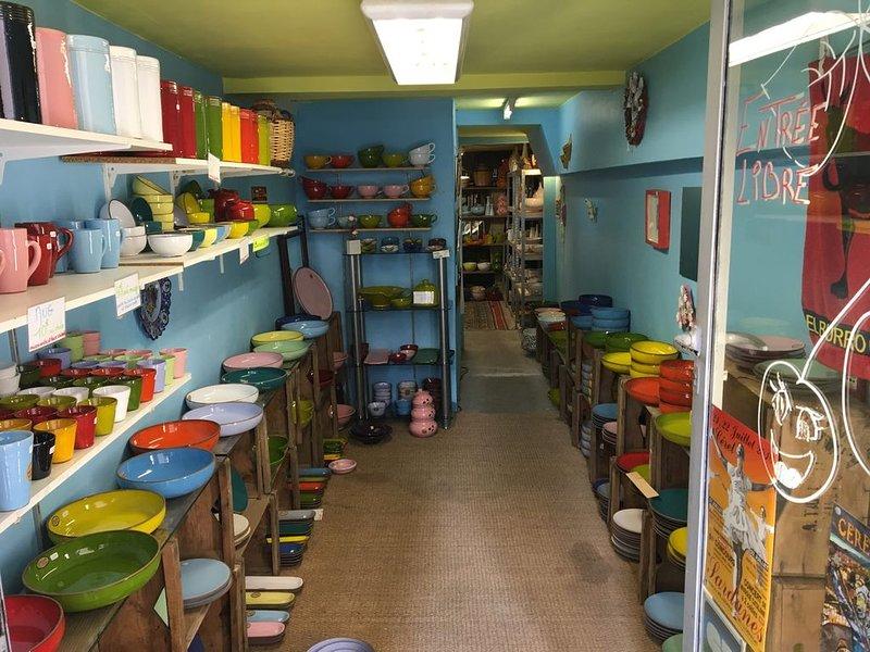 Nossa loja de cerâmica favorita em Ceret