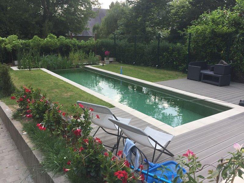 Studio avec piscine privée à 5km de BXL cadre idyllique!, location de vacances à Brabant flamand