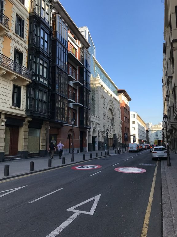 Bertendona Street with the Campos Theater.