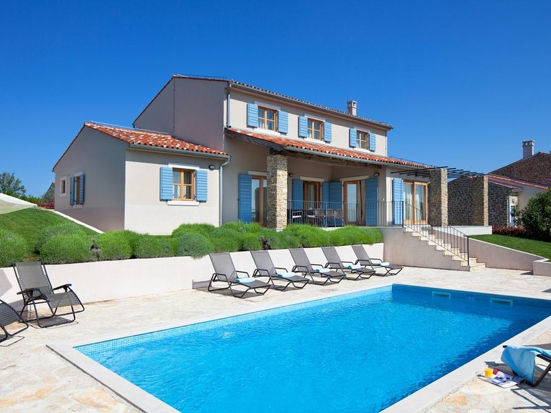 Traditional Istrian Villa, Modern Interior, Private Pool, Beautiful View to Vine, holiday rental in Buje