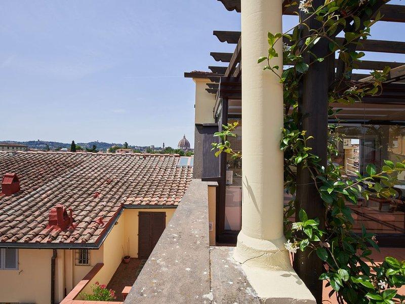 Florence terrace with a view, alquiler vacacional en Reggello