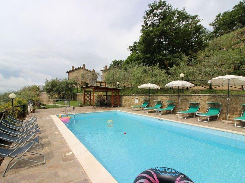 Villa con piscina privata per 6 persone. Posizione estremamente panoramica. Anim, location de vacances à San Giustino Valdarno