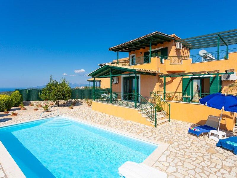 Villa Vera: Large Private Pool, Sea Views, A/C, WiFi, Eco-Friendly, vacation rental in Assos