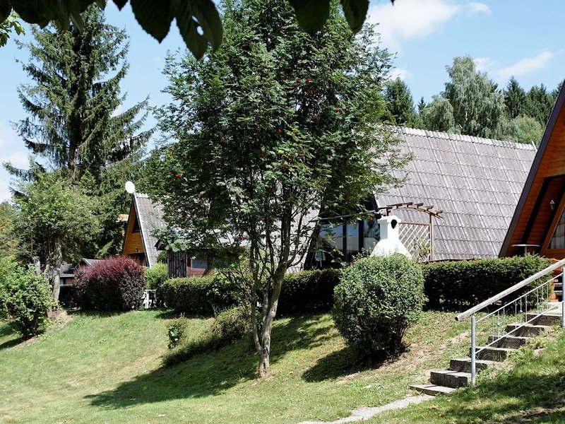 Detached chalet with terrace near a swimming lake, location de vacances à Neureichenau