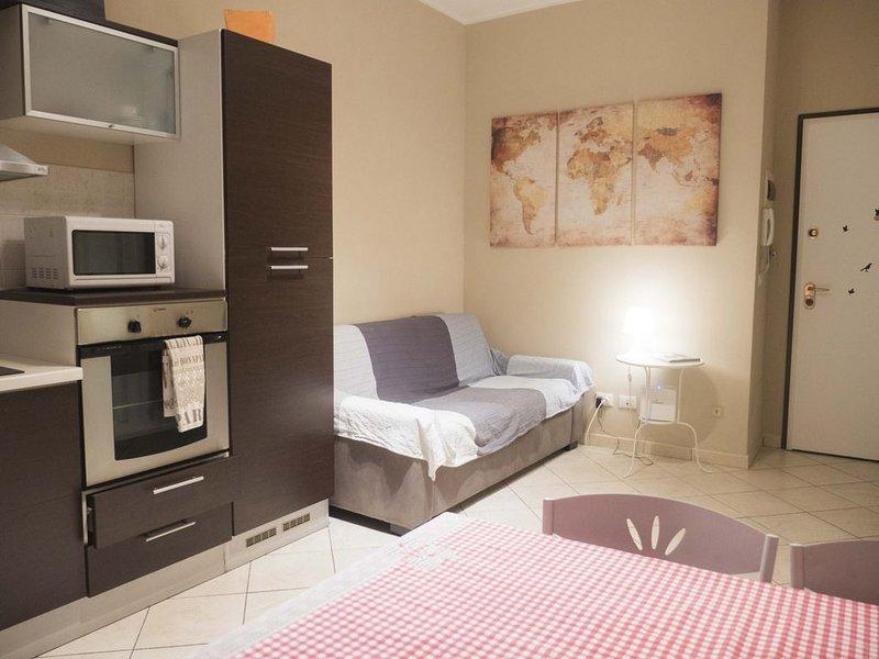 Casa Bella Marconi è un appartamento di 34 metri quadrati. pulito, luminoso, nel, holiday rental in Monte San Pietro