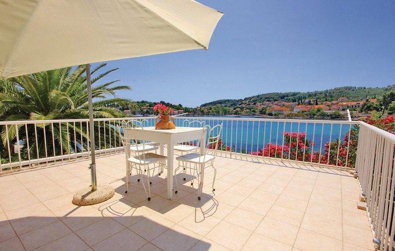 Beautiful view on the sea and neighboring islands, vacation rental in Lumbarda