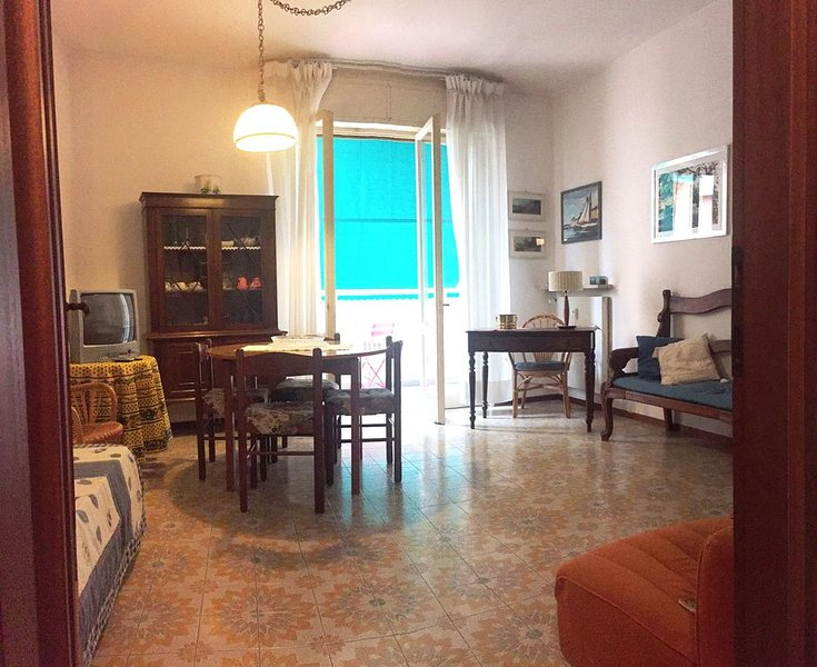 Santa Margherita Ligure, large 3 room flat with balconies inside a flower park, holiday rental in San Lorenzo della Costa