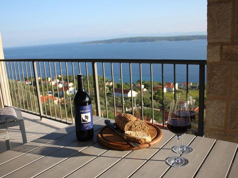 Mooi groot en luxe familievriendelijk 'stonehouse' met prachtig zeezicht, holiday rental in Zavala