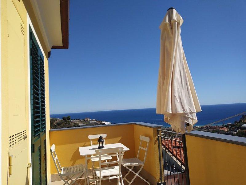 Casetta Gianna - Un buongiorno vista mare  CODICE CITRA LIGURIA 008044-LT-0005, aluguéis de temporada em Taggia