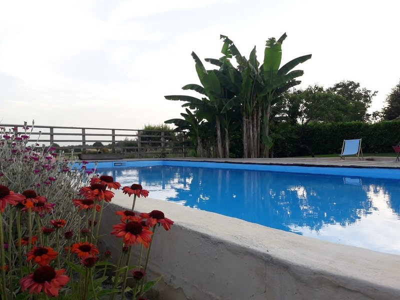 Gite de 5-8 personnes, piscine,  calme absolu, panorama sur les Pyrénées., vakantiewoning in Simorre