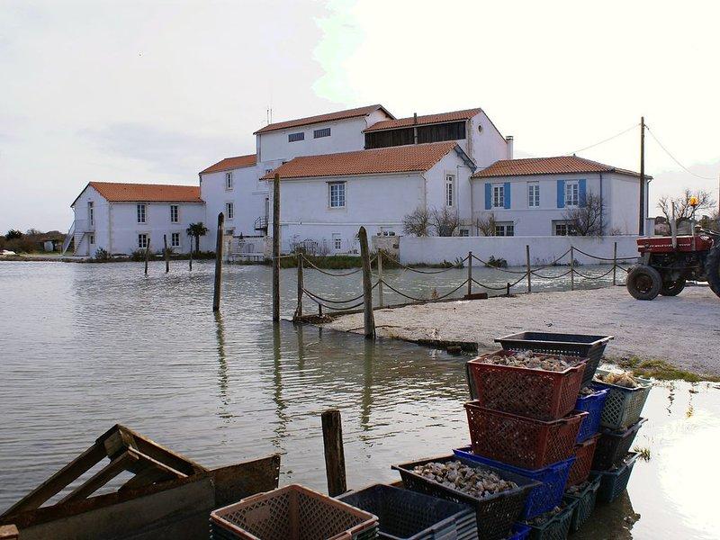 IR4, Appartement d'hôtes 4 personnes dans ancien moulin, piscine, proche Royan, alquiler vacacional en La Gripperie-Saint-Symphorien