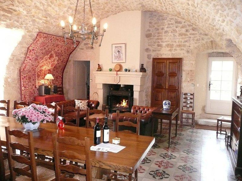 Sala de jantar em Chateau du Trichot