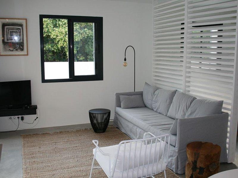 Ruime moderne studio met groot terras/tuin in res. LES CYCLISTES, location de vacances à Malaucene