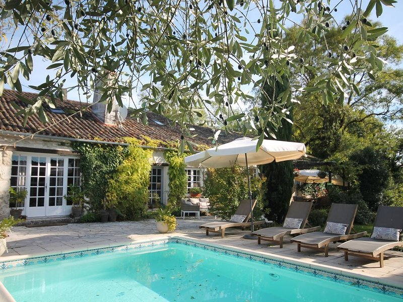 Stunning 18th Century Farmhouse with pool, casa vacanza a Riocaud