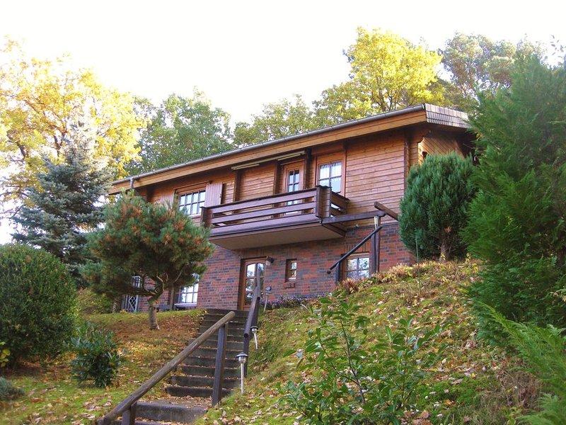 Finnisches Blockhaus mit Elbblick, location de vacances à Waddeweitz
