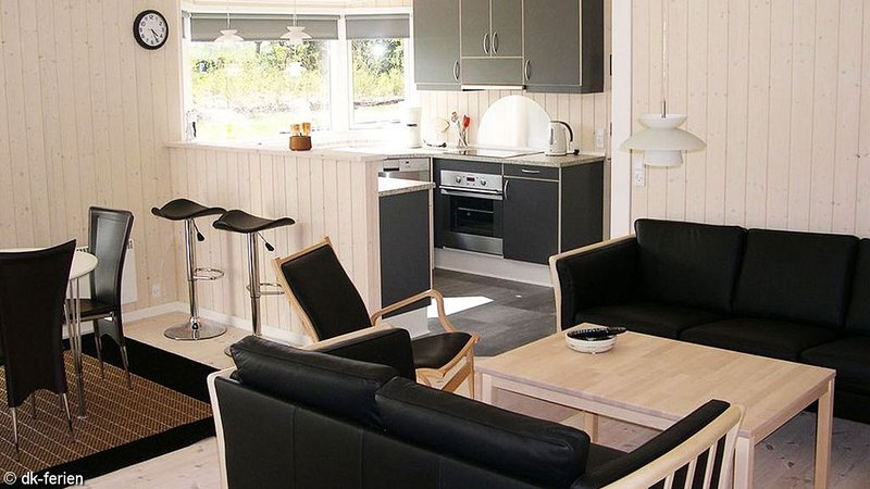 Modernes Holzhaus auf großem Grundstück in Strandnähe, vacation rental in Lyngsaa