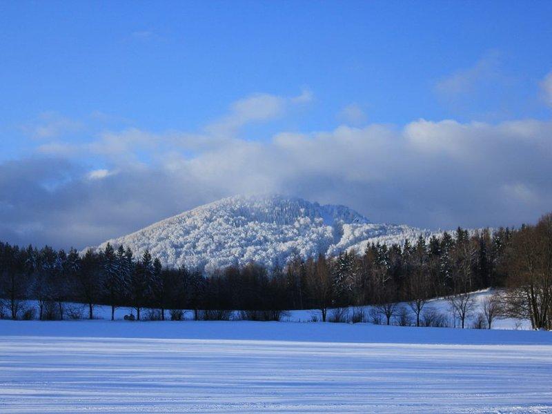 La Lausche, le plus haut sommet des montagnes de Zittau