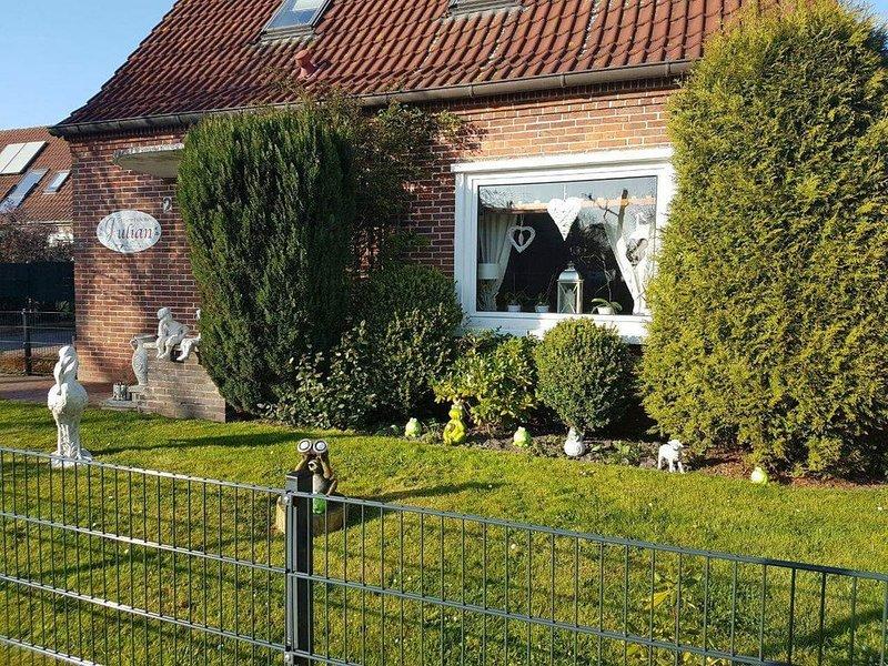 Mit Terasse an der Küche�  Urlaub� an den Zwillings- Mühlen☄️   EG, location de vacances à Krummhoern