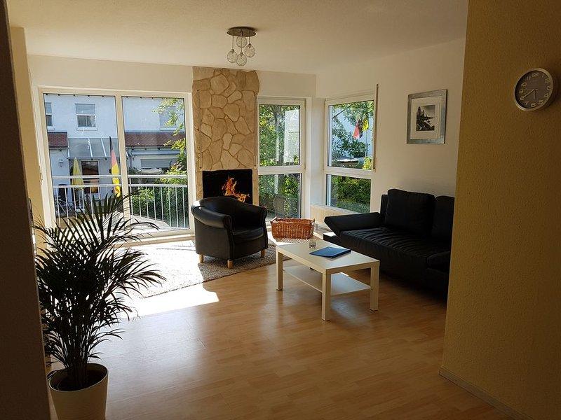 Charmante Ferienwohnung auf dem Land, stadtnah – semesterbostad i Nackenheim