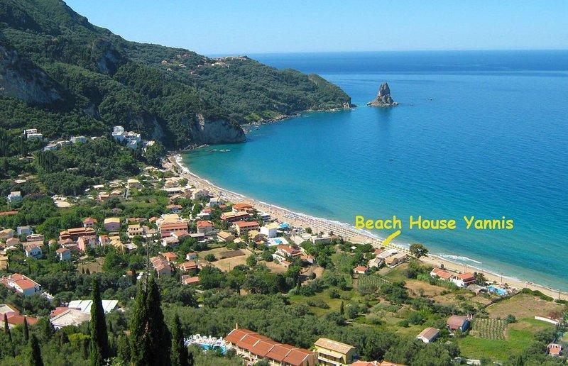 Strandhäuser Yannis am Agios Gordios, holiday rental in Pentati