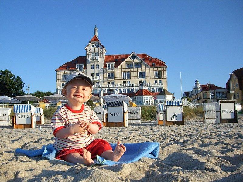 Luxuriöse 3-Raum Wohnung direkt am breiten Sandstrand mit Meerblick, holiday rental in Ostseebad Kuhlungsborn