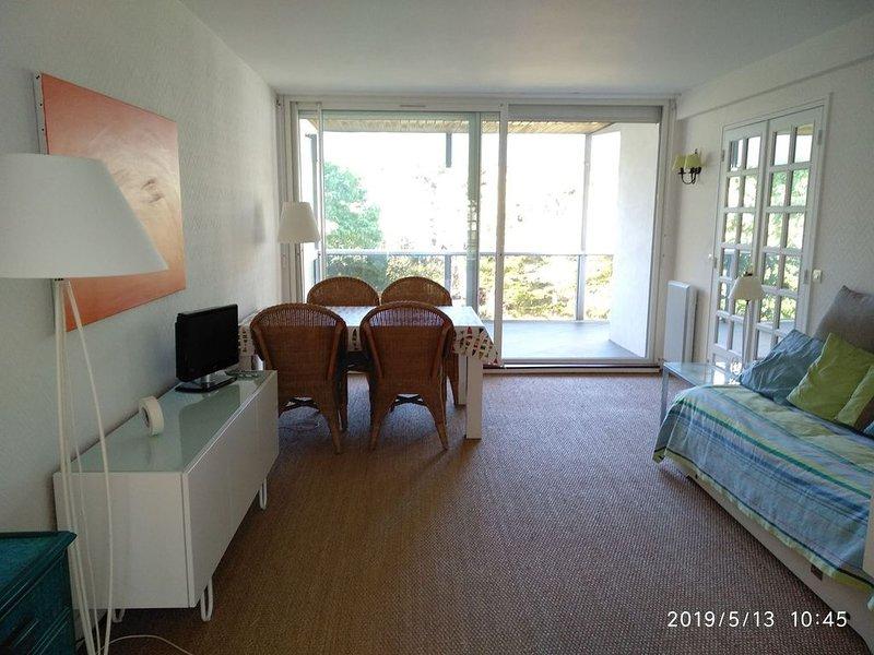 Appartement T2 de 55m² proche plage, au calme, avec balcon sur parc arboré, holiday rental in Saille