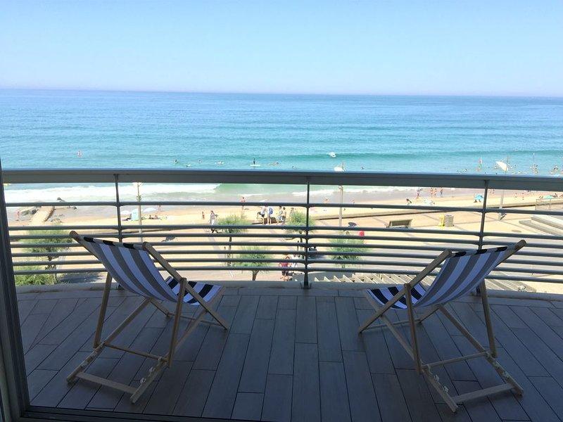Vue exceptionnelle au pied de l'océan, location de vacances à Anglet