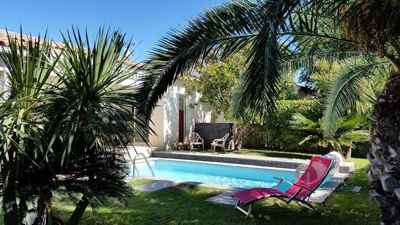 Maison avec piscine de plain pied à Lattes proche de la mer, vacation rental in Villeneuve-les-Maguelone