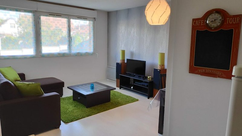 Appartement 50m² centre ville, calme, en bord de parc, location de vacances à Poses
