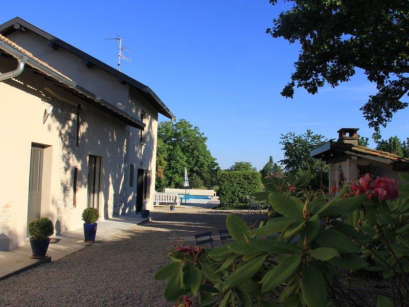 gite avec piscine et vue entre Bresse et Dombes, location de vacances à Saint-Paul-de-Varax