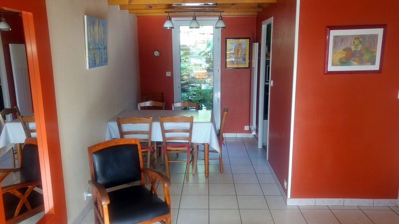 the living room overlooking the garden