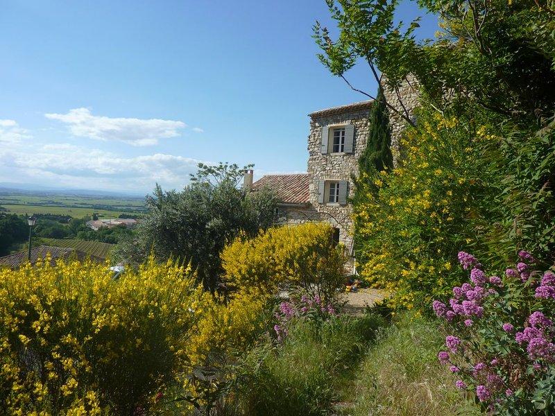 Maison provençale au calme et au coeur du village de Gigondas, location de vacances à Violes