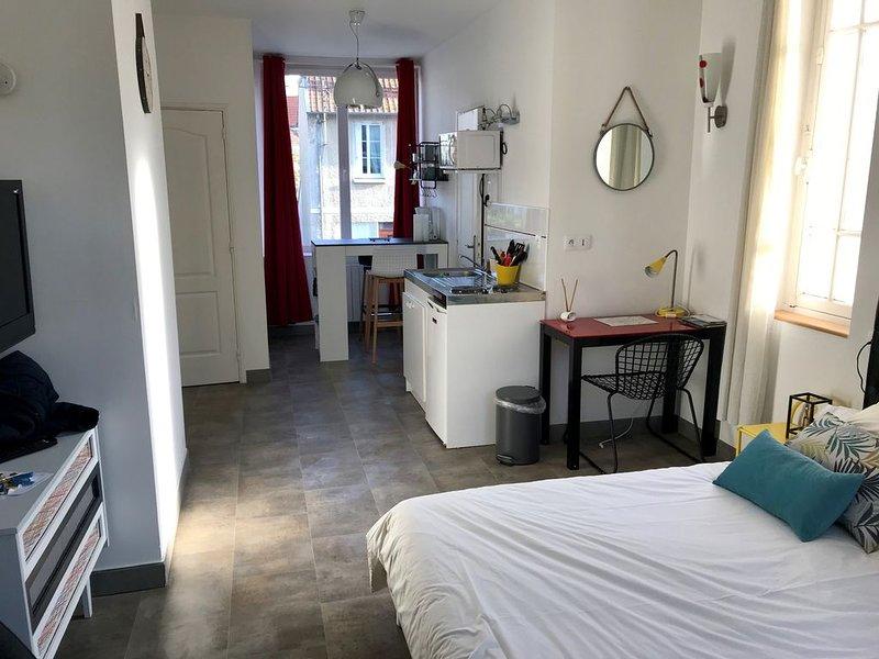 Grand studio dans un cottage urbain - Sationnement gratuit et aisé, holiday rental in Liffre